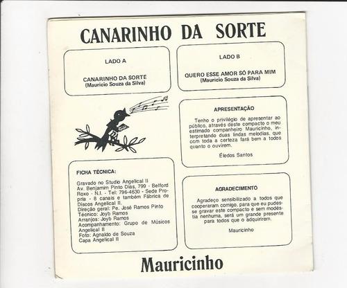 mauricinho - canarinho da sorte - compacto ep 49