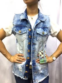 20c5dde9899e Colete Jeans Rasgado - Calçados, Roupas e Bolsas com o Melhores Preços no  Mercado Livre Brasil
