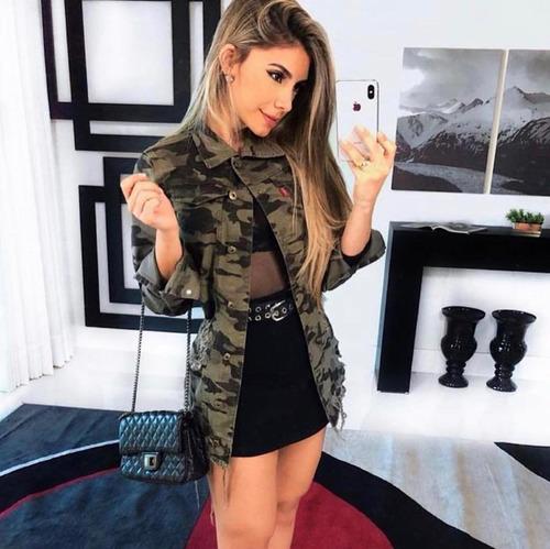 max jaqueta camuflada carmen jeans p ao g destroyed linda