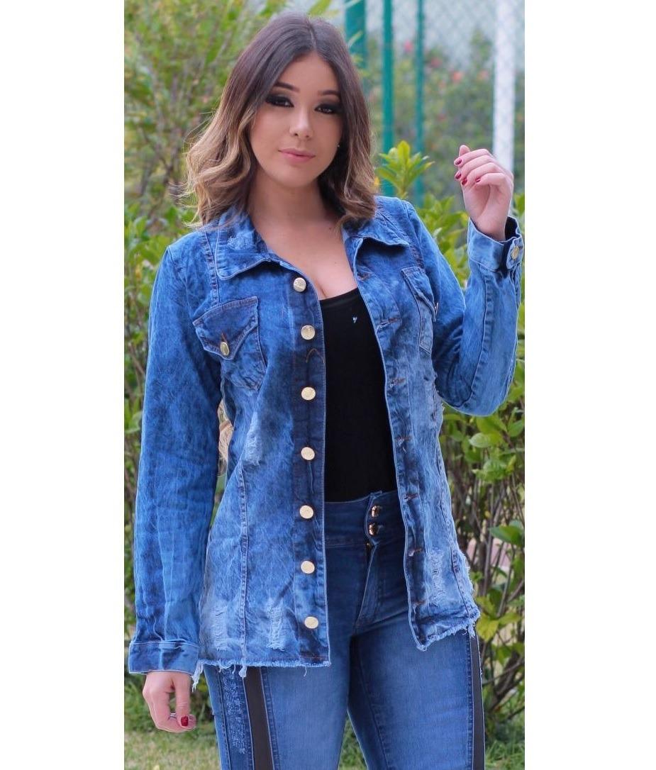 746a28a2c4e1 max jaqueta jeans feminina tendência blogueiras evangélica. Carregando zoom.