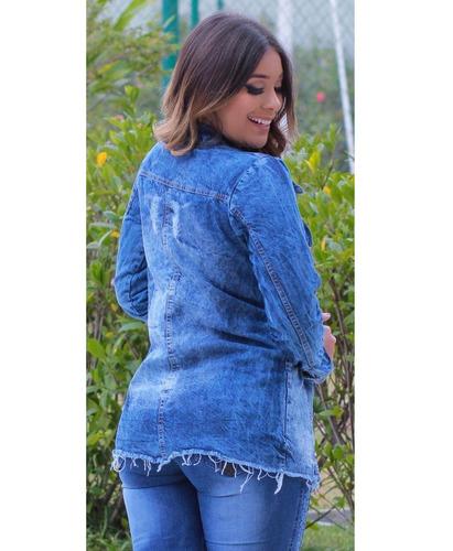 fa5ea7765f22 Max Jaqueta Jeans Feminina Tendência Moda Blogueira Vip - R$ 77,99 ...