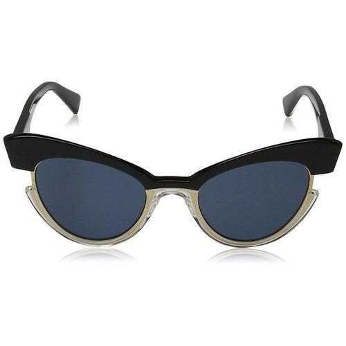 max mara mm ingrid 7c5 ku 49 - preto-dourado/azul