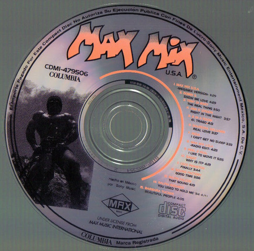 max mix u.s.a. cd raro max music 1995 bvf