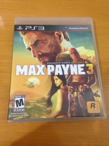 max payne 3 mídia física ps3 playstation 3 completo r$69,97