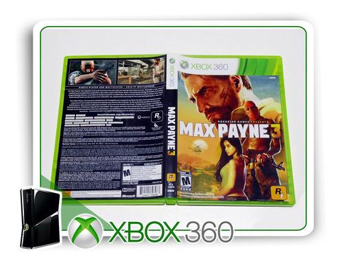 max payne 3 original xbox 360 - mídia física