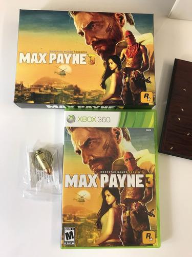 max payne 3 special edition xbox 360 - impecável