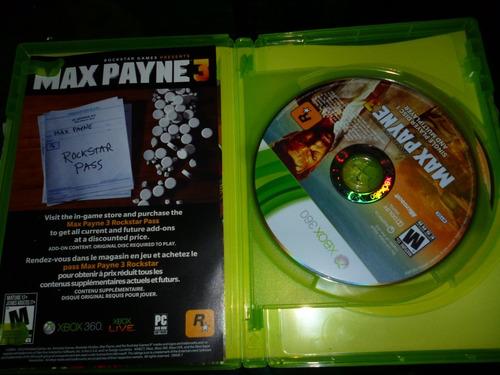 max payne 3 xbox 360 microsoft