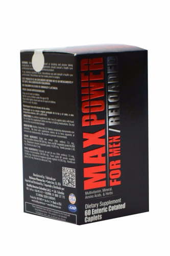 max power for men reloaded x60caplets multivitaminico hombre