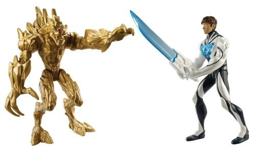 max steel battle pack: max steel vs tierra elementor figura