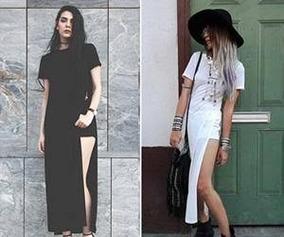 8aeab6e66 Blusas Femininas Comprida Fenda Lateral - Calçados, Roupas e Bolsas no  Mercado Livre Brasil