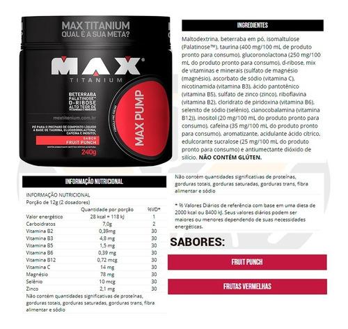 max titanium pré-treino max