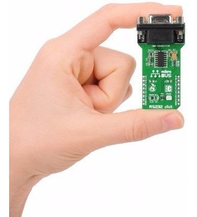 max3232 puerto db9 rs232 click mikroe