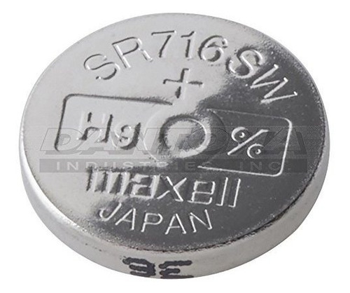 maxell sr716sw 315 v315 sr62 sr716 de oxido de plata bateria