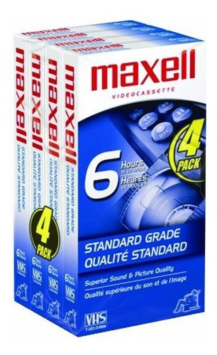 maxell std-t-120 4 pack vhs tapes paquete de 10