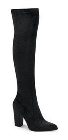 100% de satisfacción estilo de moda comprar el más nuevo Maxi Botas Negras A La Rodilla Para Mujer. Tacto Durazno