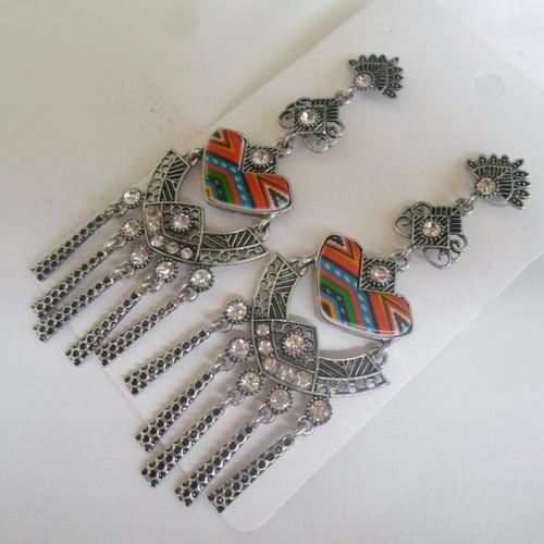 maxi brincos colorido ref: 4139 - antonio bijuterias