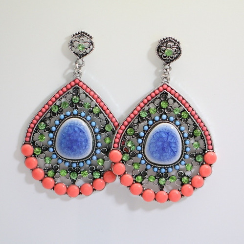 maxi brincos feminino moda verão 2020 gota colorida lindo