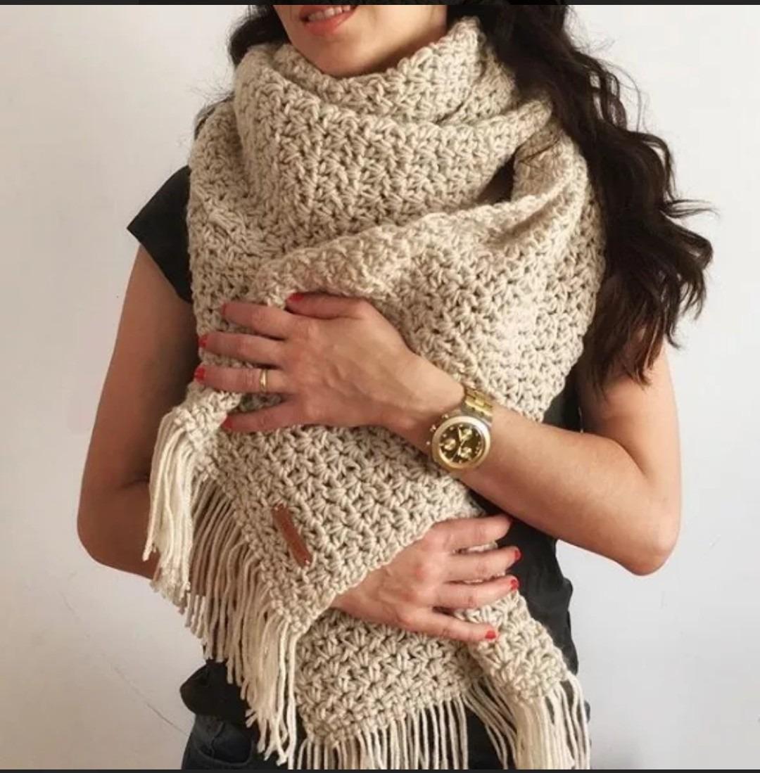 ventas al por mayor profesional diseño moderno Maxi Bufanda A Crochet / Bufanda Xxl