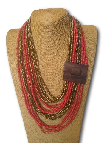 maxi colar de miçangas colorido ref: 7604 antonio bijuterias