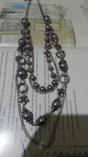 maxi colar prata