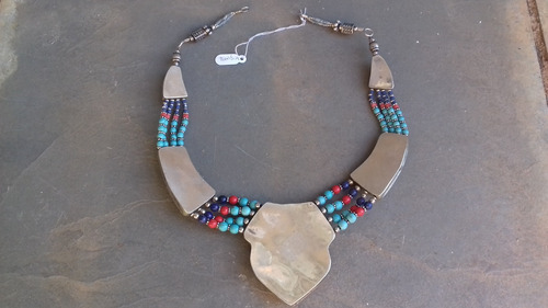 maxi colar tunisiano em alpaca usado para reformar
