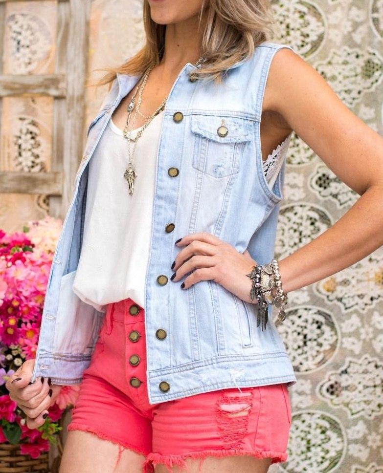 c01dcfc99 maxi colete jeans revanche feminino. Carregando zoom.