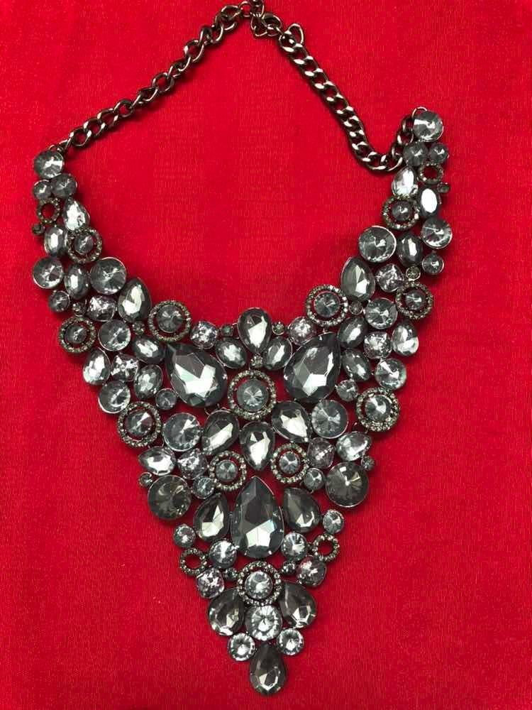3b5d09ebf6eb Maxi Collar Bisutería Fina Con Cristales -   540.00 en Mercado Libre