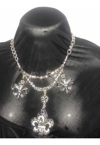 0ae85a2def27 Maxi Collar Es Plateado Con Negro Ver Ultima Foto