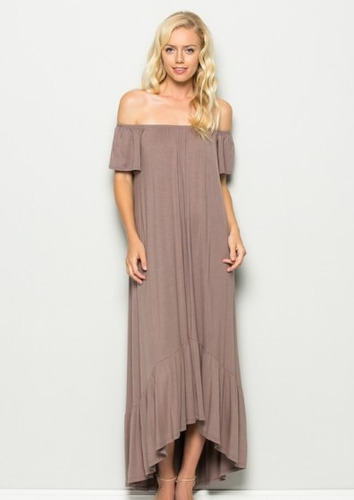 maxi dress off shoulder