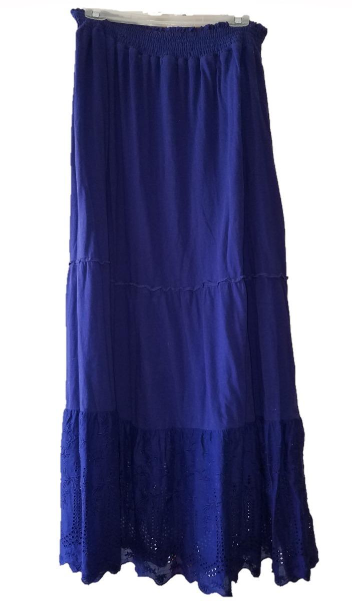 7e7c4734cf maxi falda mca izod color azul dama gitana falda larga t m. Cargando zoom.