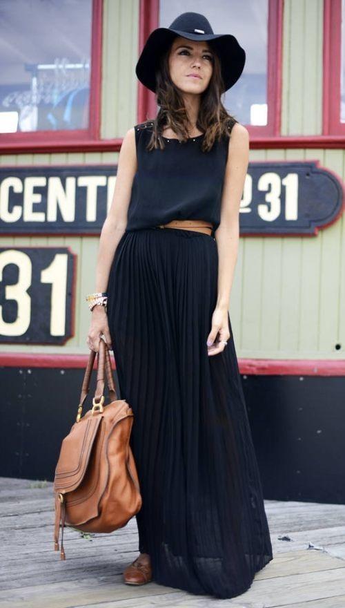 546f28b8d8 maxi falda plisada color negra. todos los talles. Cargando zoom.