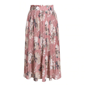 858ffec736 Maxi Falda Rosa Con Estampado Floral