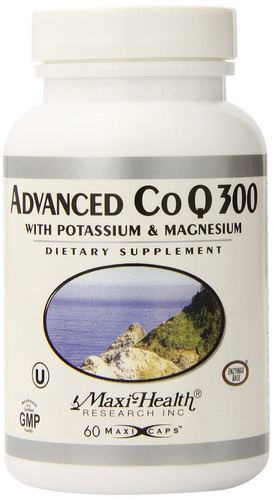 maxi health advanced co q10 300 - coenzyme q10 - with potass
