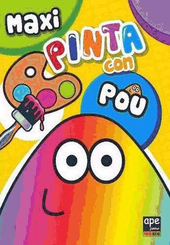 maxi pinta con pou(libro infantil y juvenil)