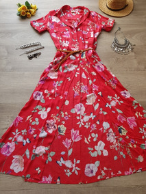 0e4b208a4 Vestido Hippie - Vestidos Largos de Mujer Rojo en Mercado Libre ...