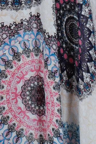 maxi vestido ark & co. con estampado hindu en tonos rosa