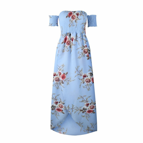 maxi, vestido de flores, verano, largo casual