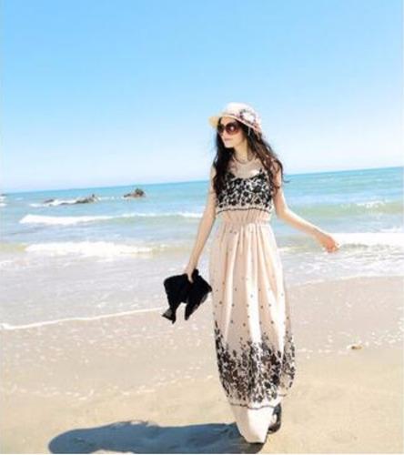 maxi vestido elegante de playa para el verano