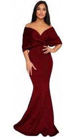 Vestido Color Vino Lentejuelas Vestidos De Mujer De Noche