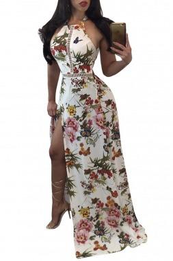 maxi vestido fiesta floreado ropa mujer envío gratis