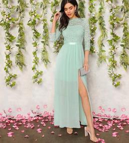 3e80d113dcd63 Maxi Vestido Largo De Fiesta Elegante Mujer Dama Sexi Encaje