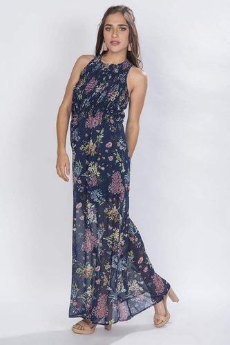 maxi vestidos largos casuales azul floreados juvenil s81118