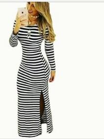 Maxi Vestidos Largos Estampados Y A Rayas