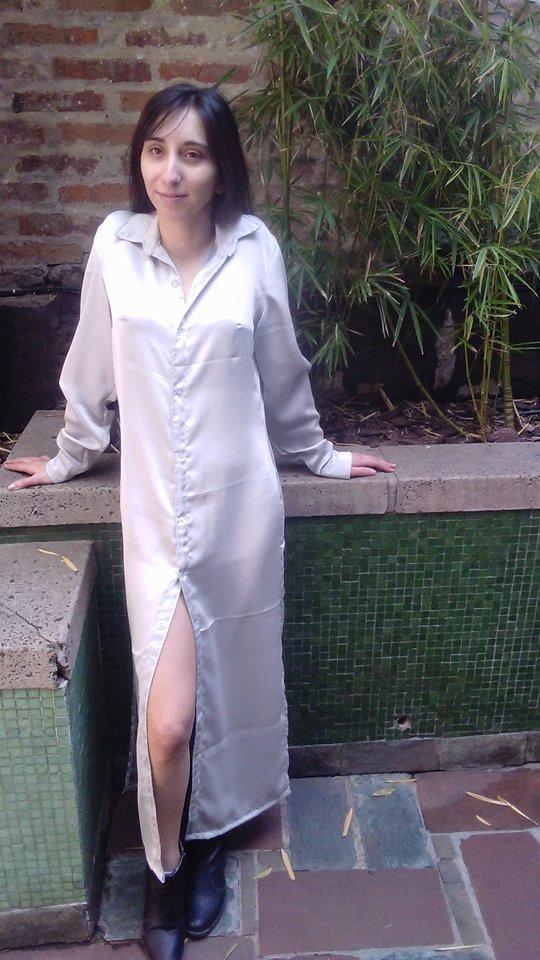 Maxicamisa Vestido Camisero Camisa Larga Mujer Diseñador - $ 960,00 ...