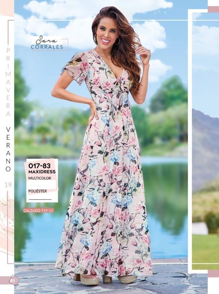 Maxidress Cklass Vestido Multicolor 017 83 Primavera 2019
