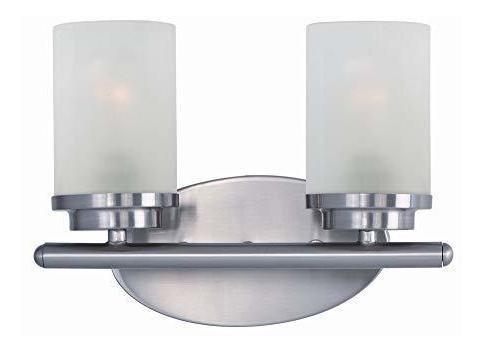 maxim lighting 10212ftsn corona - tocador de baño con dos lu