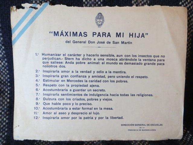Resultado de imagen para general san martin maximas