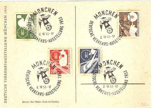 máximo postal série 53/56 alemanha exp. munich 53 carimbo