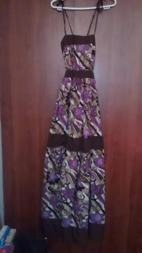 maxivestido/ vestido largo multicolor / seminuevo / talla m