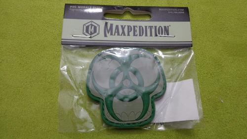 maxpedition morale patches bzska arid biohazard skull